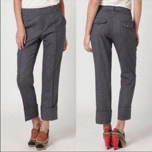 | Anthropologie | Cartonnier Tweed Cuff Trouser